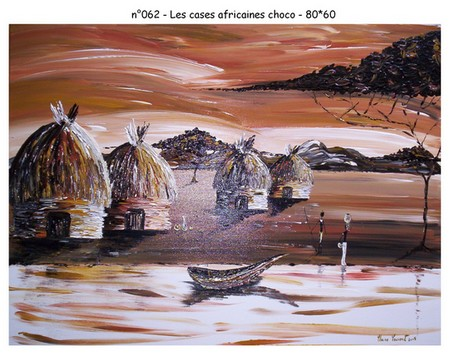 Les cases africaines choco - n062 - 80*60