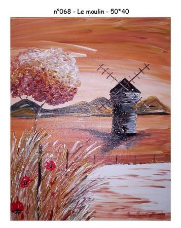Le moulin - n068 - 50*40