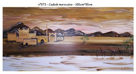 Casbah marocaine - n073 - 100*50