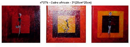Cadre africain - n076 - 3*(20*20)
