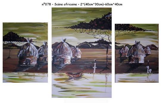 Scène africaine - n078 - 2*(40*30)-60*40