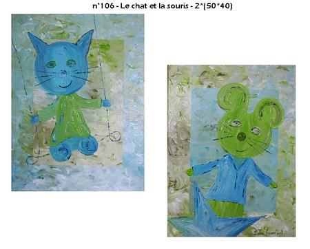 n106 - Le chat et la souris - 2*(50*40)